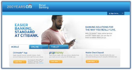 citi_bank_mobile_banking_website_landing_page
