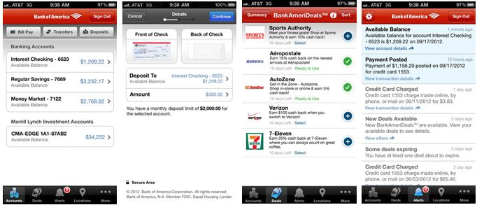 Bank Of America Mobile Deals