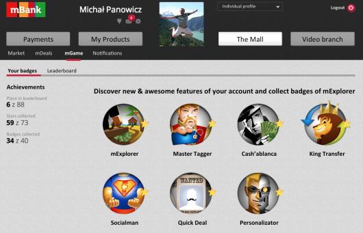 mBank online savings gamification