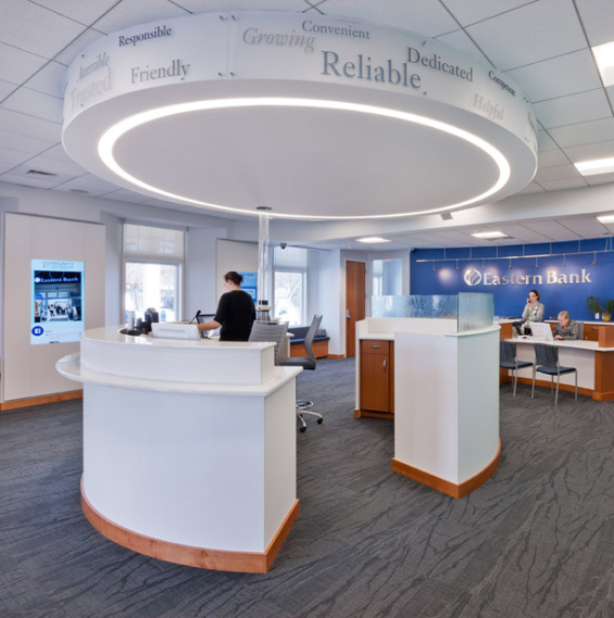 Eastern_bank_central_lobby. Eastern_Bank_branch_learning_wall