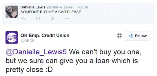 23 things banks credit unions say on twitter. Black Bedroom Furniture Sets. Home Design Ideas