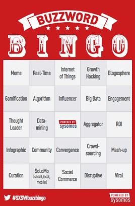 buzzword bingo card