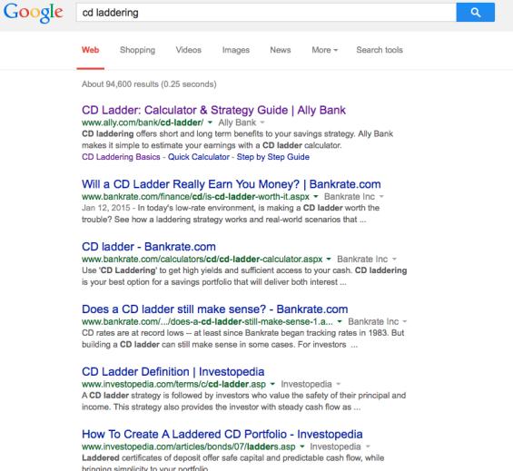 cd ladder google
