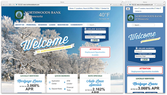 northwoods_bank_website