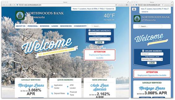 northwoods_bank_website