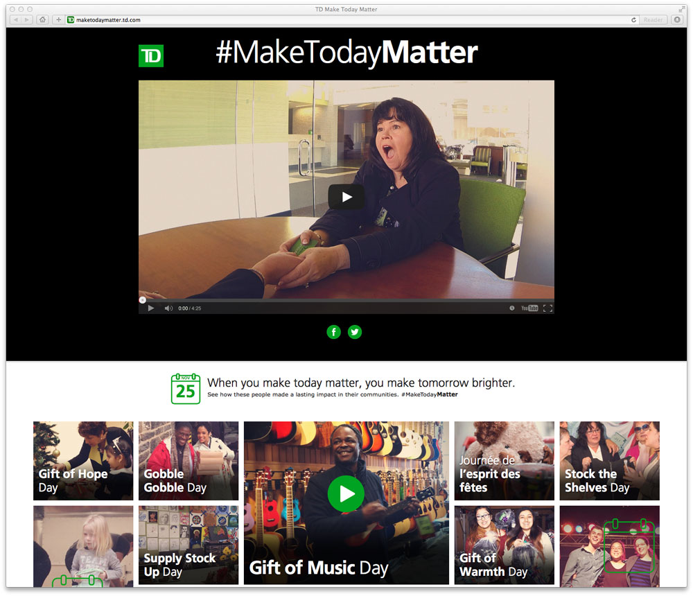 Today Viral News Home: Td_bank_make_today_matter_microsite