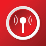 Signal icon on red