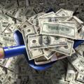 Money with shovel