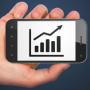 Finance concept: Growth Graph on smartphone