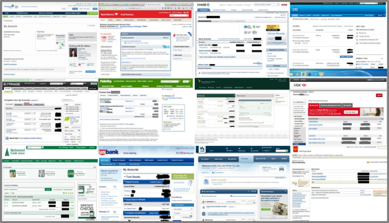 Online Banking Web Pages