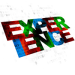 Finance concept: Experience on Digital background