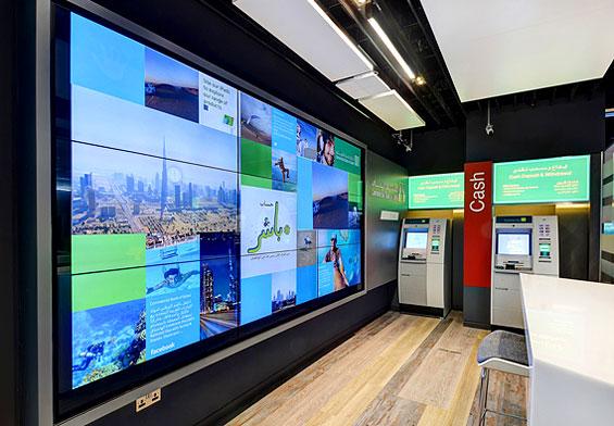commercial bank dubai branch design interior video the financial brand. Black Bedroom Furniture Sets. Home Design Ideas