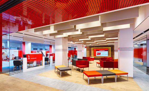 Retail banking branch design showcase spring 2016 for Banco de santander oficinas