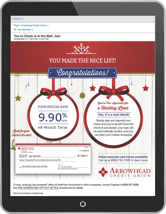 arrowhead_credit_union_personalized_email