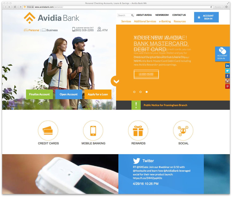 avidia bank website the financial brand