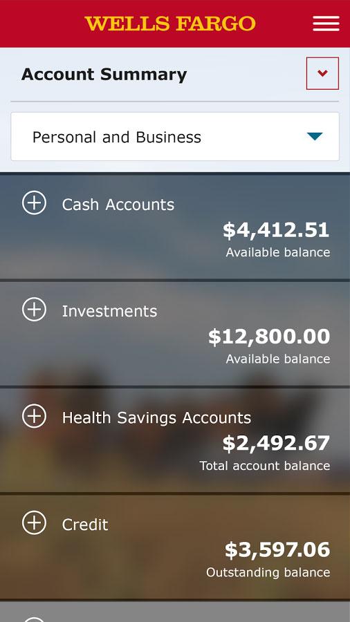 Wells Fargo Mobile Banking App