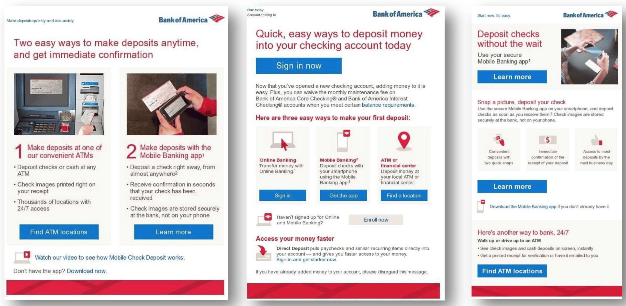 bank of america deposit alternatives email