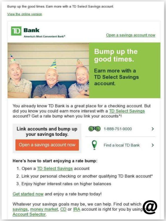 how to close savings account td bank