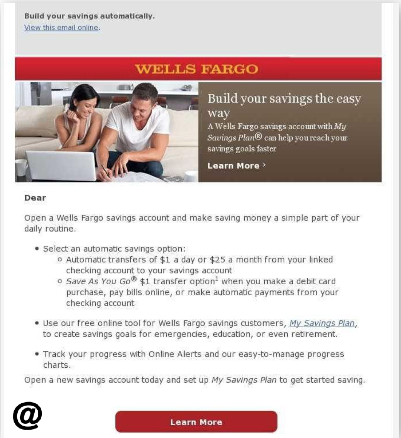 Wells Fargo Automatic Savings Crosssell Email How To Write