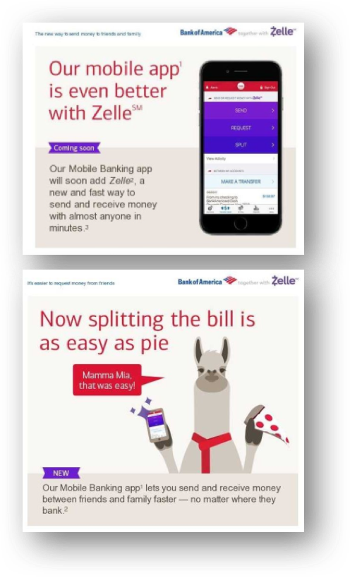Similar To Bank Of America U S Introduced Zelle As Part An Enhanced Mobile Banking Experience Most The Larger Banks Have Supported This