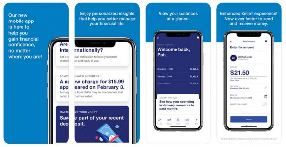 US Bank mobile banking screens