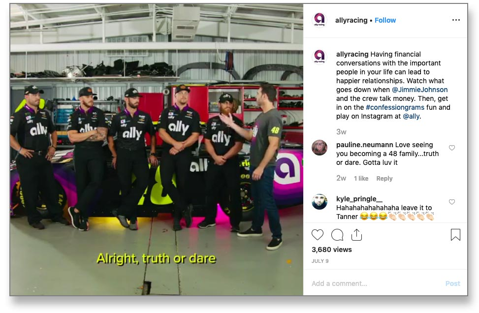 Funny Ally Bank Instagrams Get Consumers to Loosen Up About