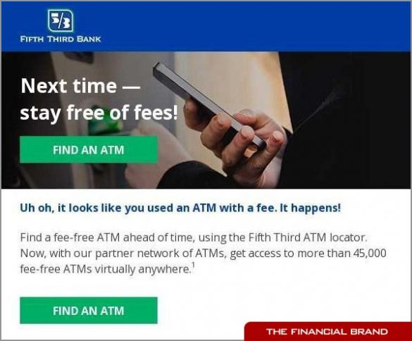 Firth Third Bank ATM email promotion