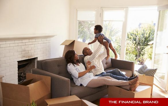 Bad stock photography of family on sofa