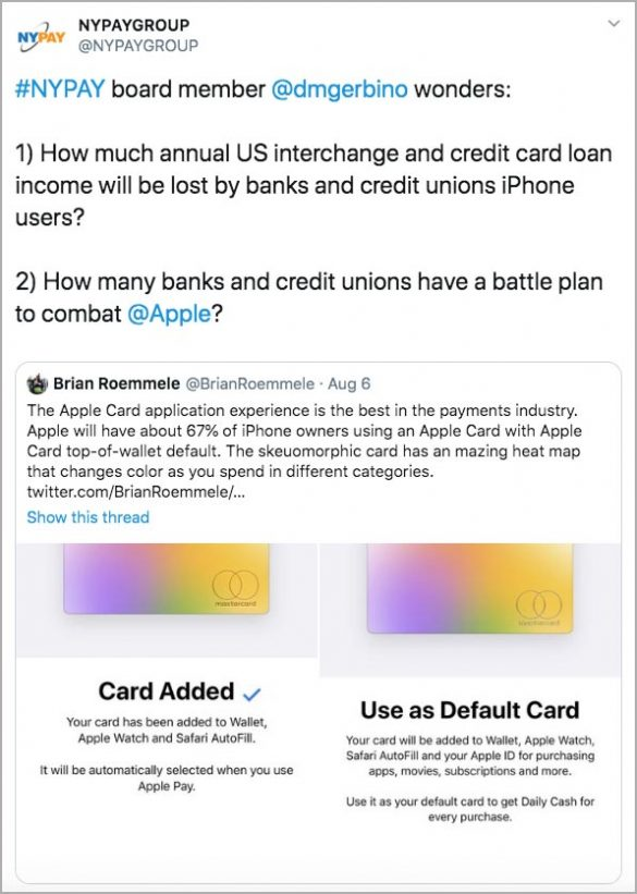 Apple Card tweet how will banks battle Apple