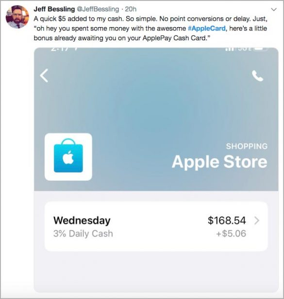 Apple Card tweet adding money is easy