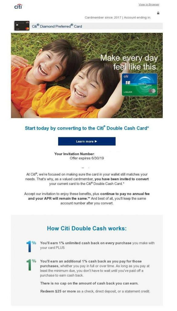 Citibank double cash complicated offer