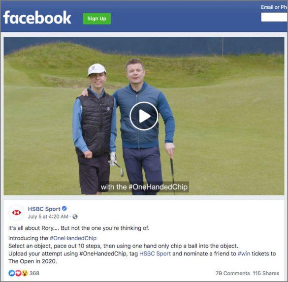 HSBC Sport Facebook