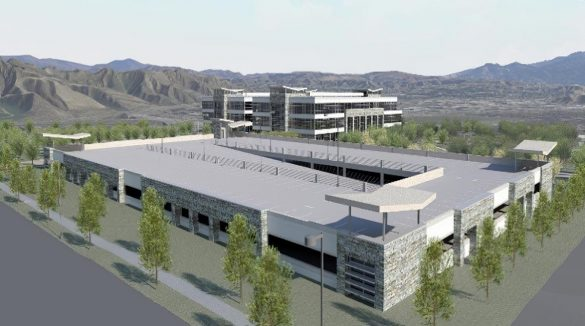Logix green design exterior parking structure