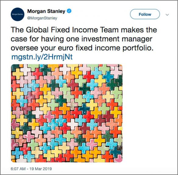 Morgan Stanley puzzle tweet