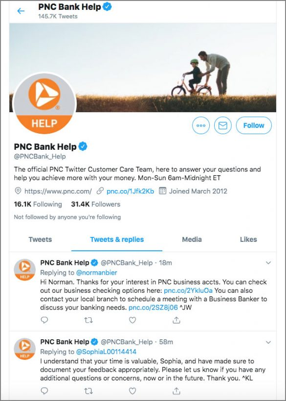PNC Bank Help Twitter