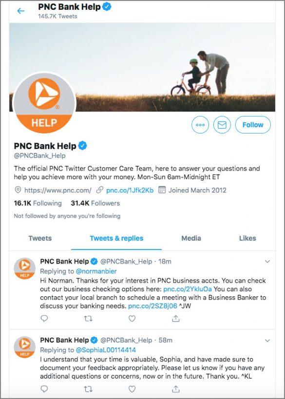 PNC Bank Help Twitter