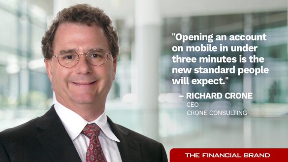 Richard Crone open account under three minutes standard