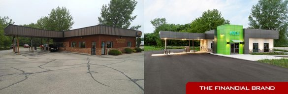 FCCU before and after branch remodel exterior