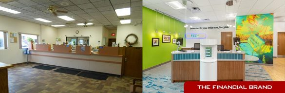 FCCU before after branch remodel teller