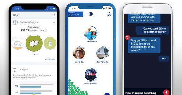 Financial wellness Nomi Dobot Erica AI chatbot