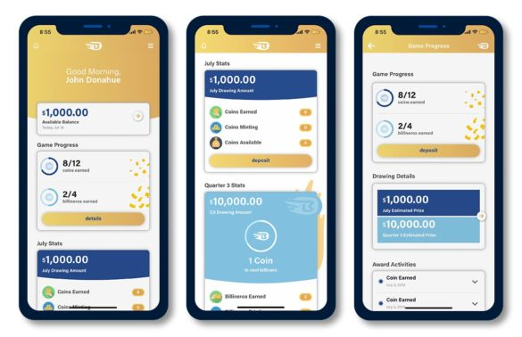 Ally Bank gamification mobile screens