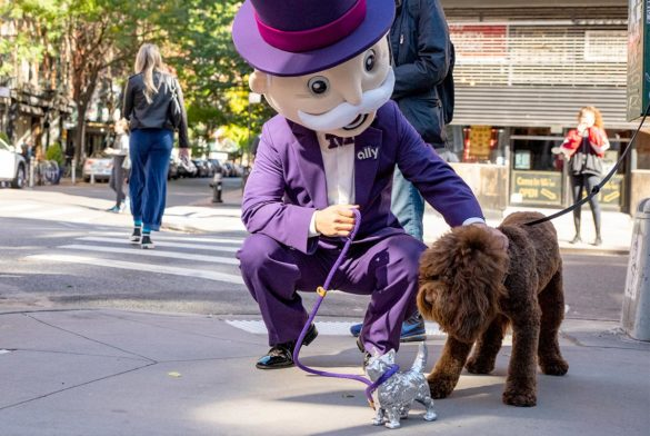 Ally Bank gamification Mr. Monopoly and the Scottie Dog