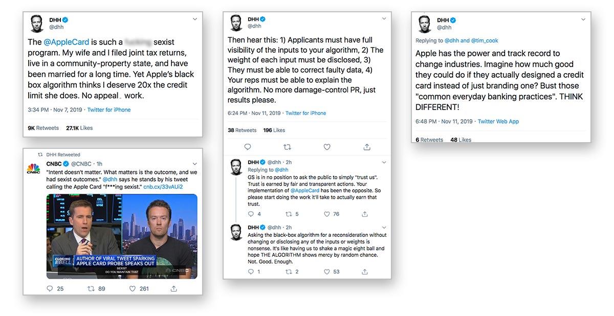 Tweetstorm Blasts Goldman Sachs and Apple Card for 'Sexist