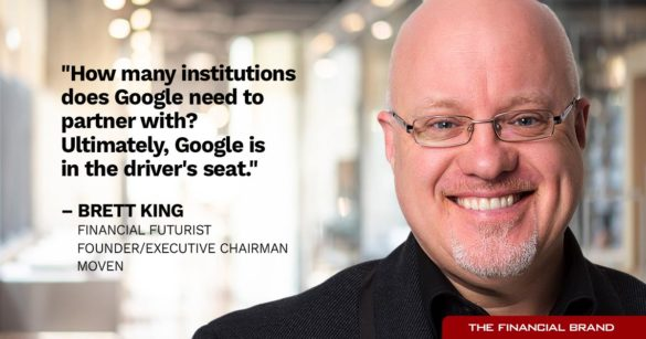 Brett King Google drivers seat quote