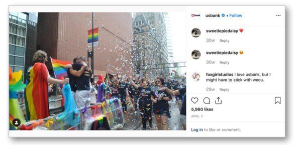 US Bank Instagram LGBTQ