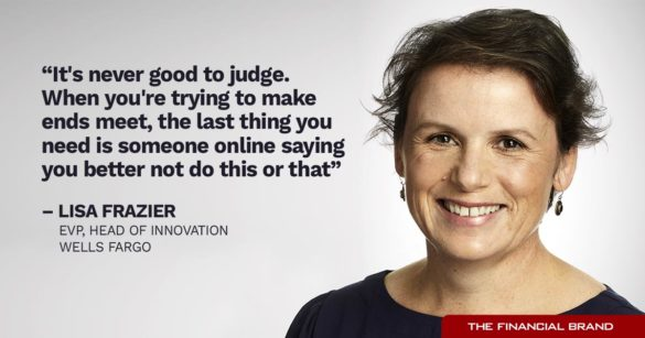 Lisa Frazier never good to judge quote