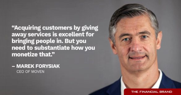 Marek Forysiak aquiring customers free stuff quote