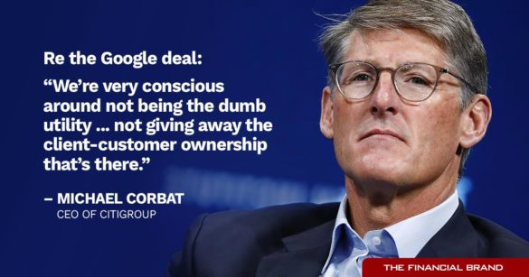 Michael Corbat Google deal quote