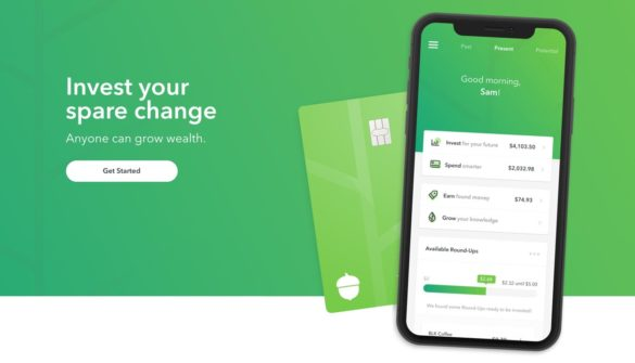 acorns saving app