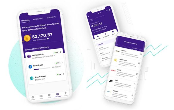 Stash savings mobile app